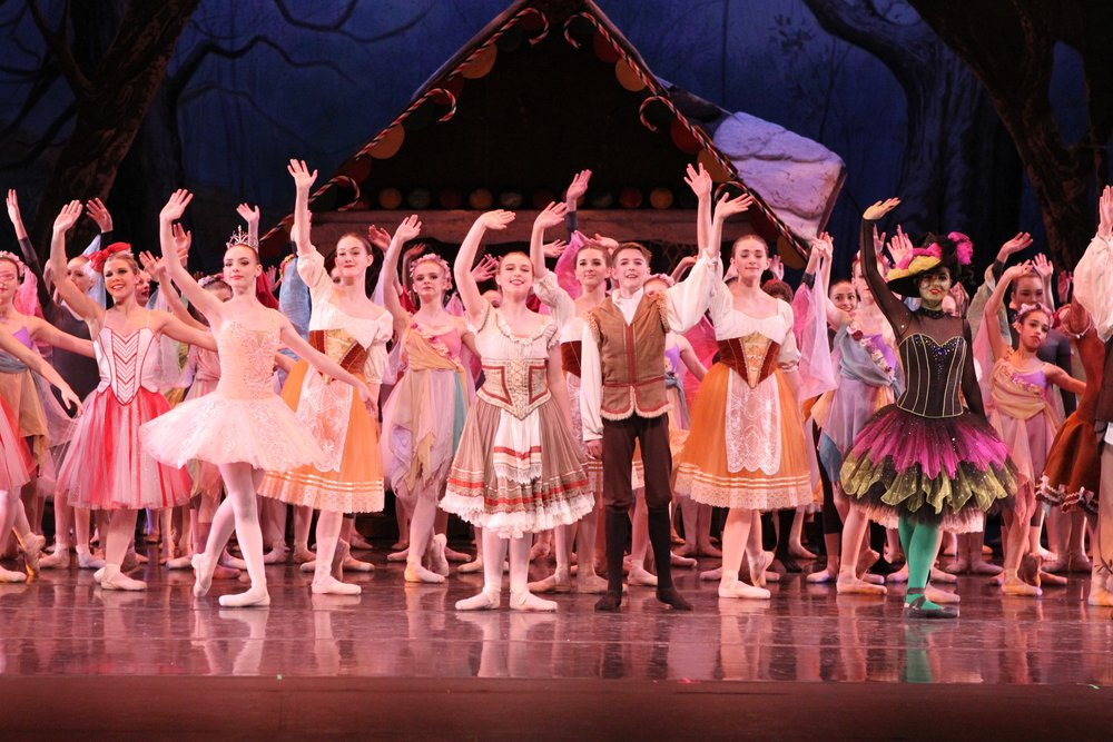 Students from the Barbara Barrington Jones Ballet West Academy at Thanksgiving Point performing Hansel & Gretel.