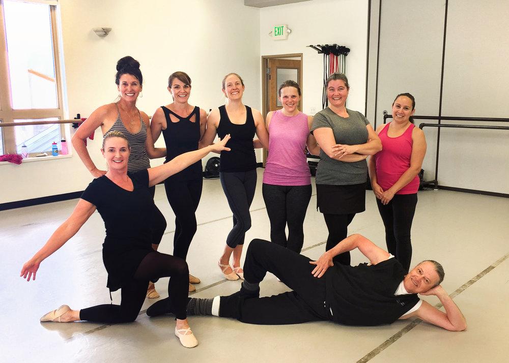 Adult Class at the Peggy Bergmann Ballet West Academy Park City Campus