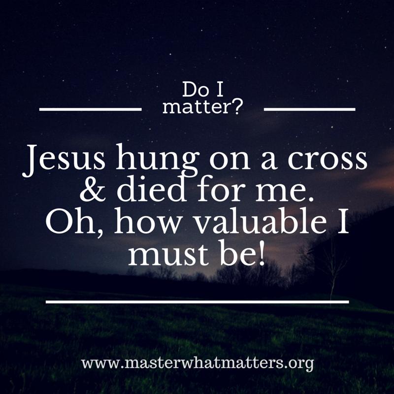 Do I matter_