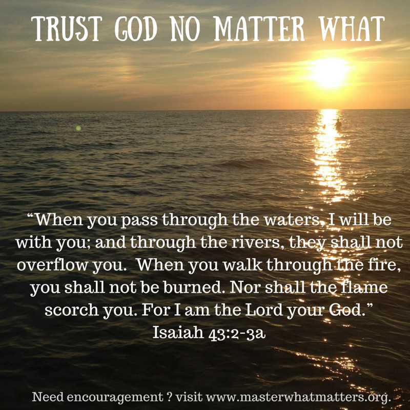 Trust God No Matter What