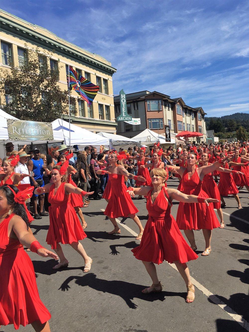 Sambra Parade at the North Country Fair, Arcata Plaza