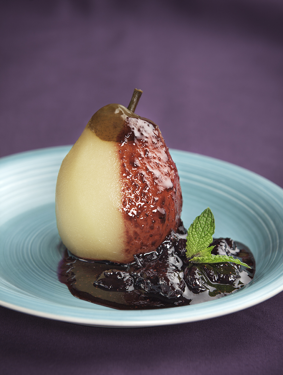 You Might Also Like - Poached Pears with Blueberry Compote