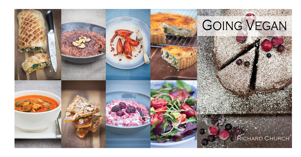 Going Vegan. The Cookbook by Richard Church.Now £1.99 - Available on Amazon Kindle for smartphones and tablets.114 plant-based dishes, many gluten-free. 256 pages of recipes and advice.It's the cookbook no vegan should be without.