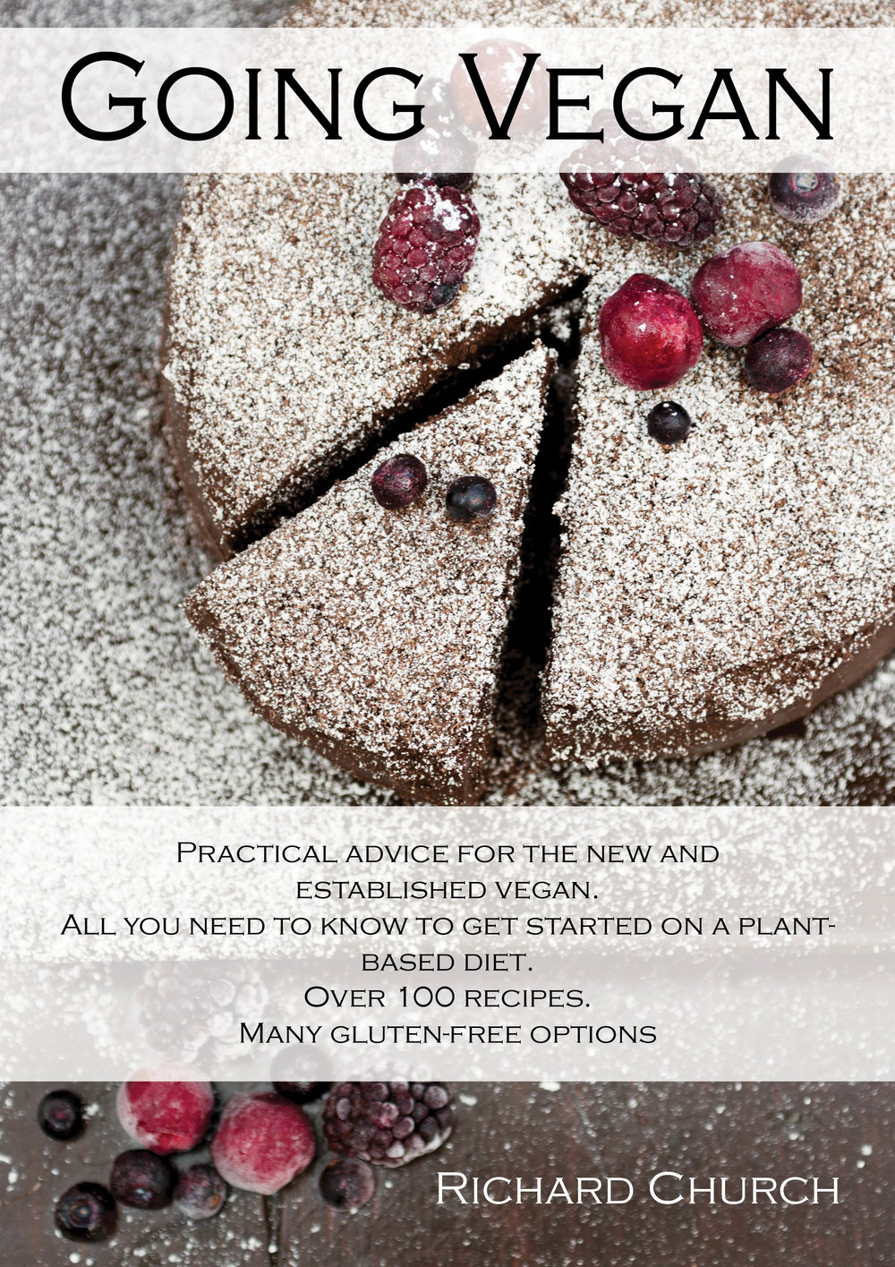 Going Vegan: The Cookbook by Richard Church - Available on Amazon Kindle for smartphones and tablets.114 plant-based dishes, many gluten-free. 256 pages of recipes and advice.It's the cookbook no vegan should be without.Very Soon Available in Paperback!!