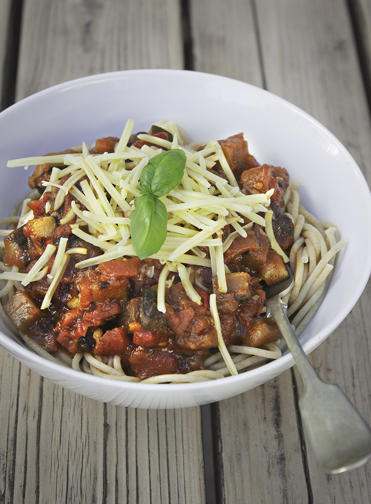 You Might Also Like - Roasted Red Pepper and Aubergine Pasta Sauce
