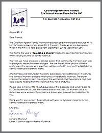 Letter for kit