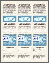 Family Violence Pamphlet