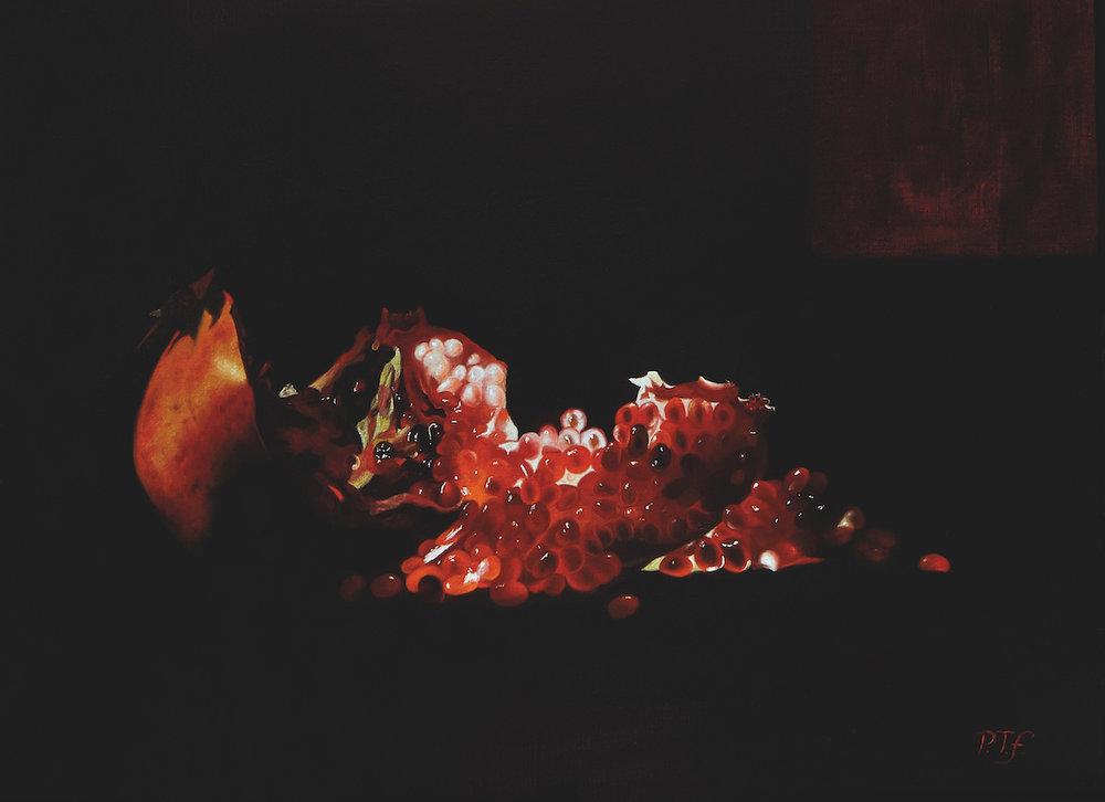 Open pomegranate, 2015