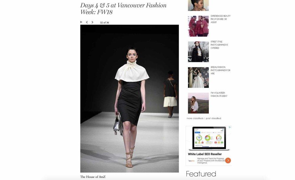Days 4 & 5 at Vancouver Fashion Week | Fashion Week Online