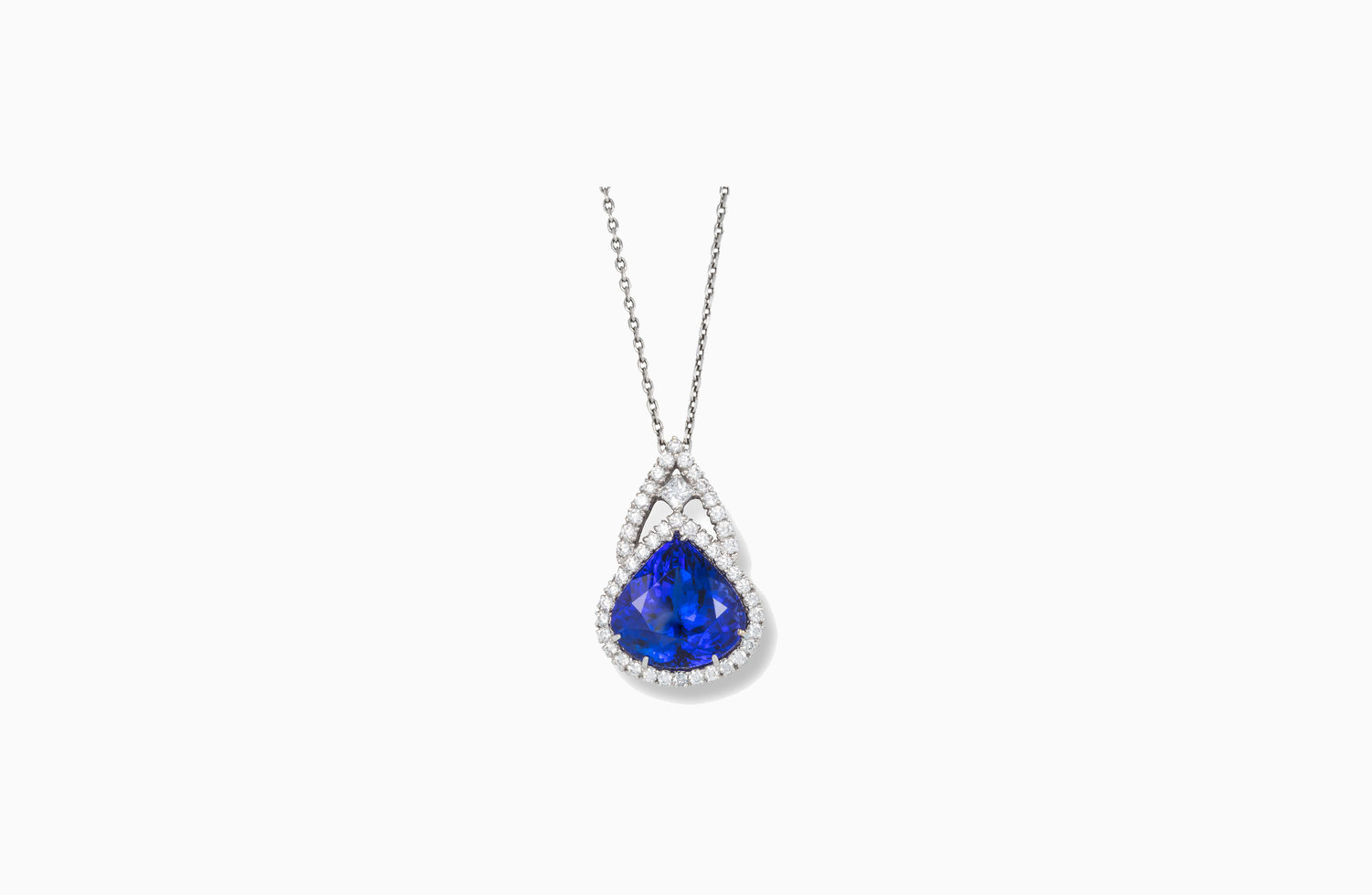 catcher tanzanite dream pendant in necklace gold ctw white