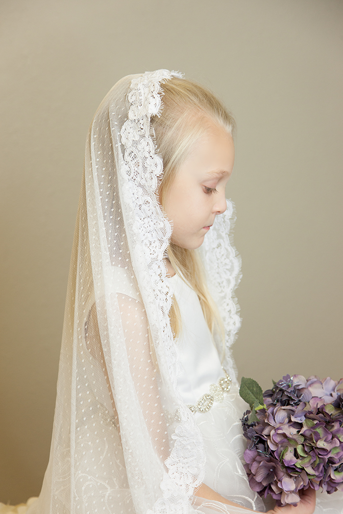 4a946b6f2c Swiss Dot Chapel Lace Veil
