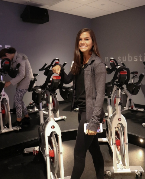 Lauren Sturm at Oxygen Fitness. Photo by Emma Barker