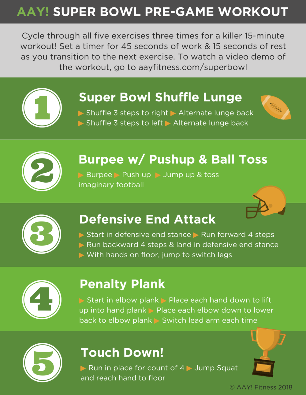 AAY Fitness Super Bowl Workout