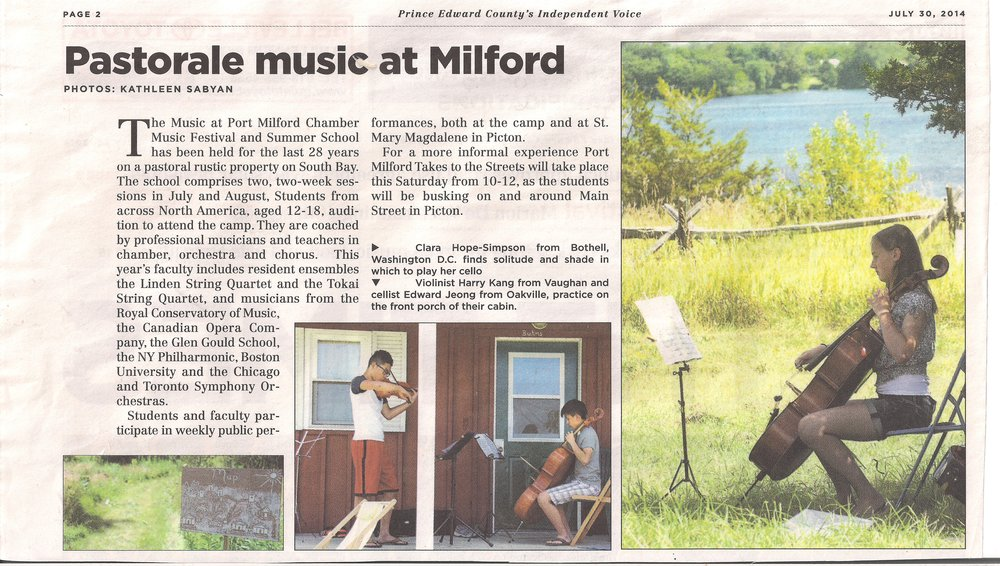 Music at Port Milfor PEC's Independent Voice Press 2014