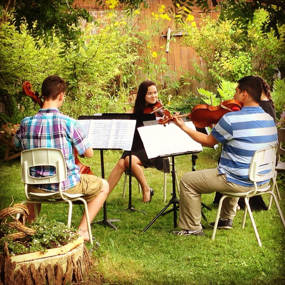 Music at Port Milford Quartet at Garden Party