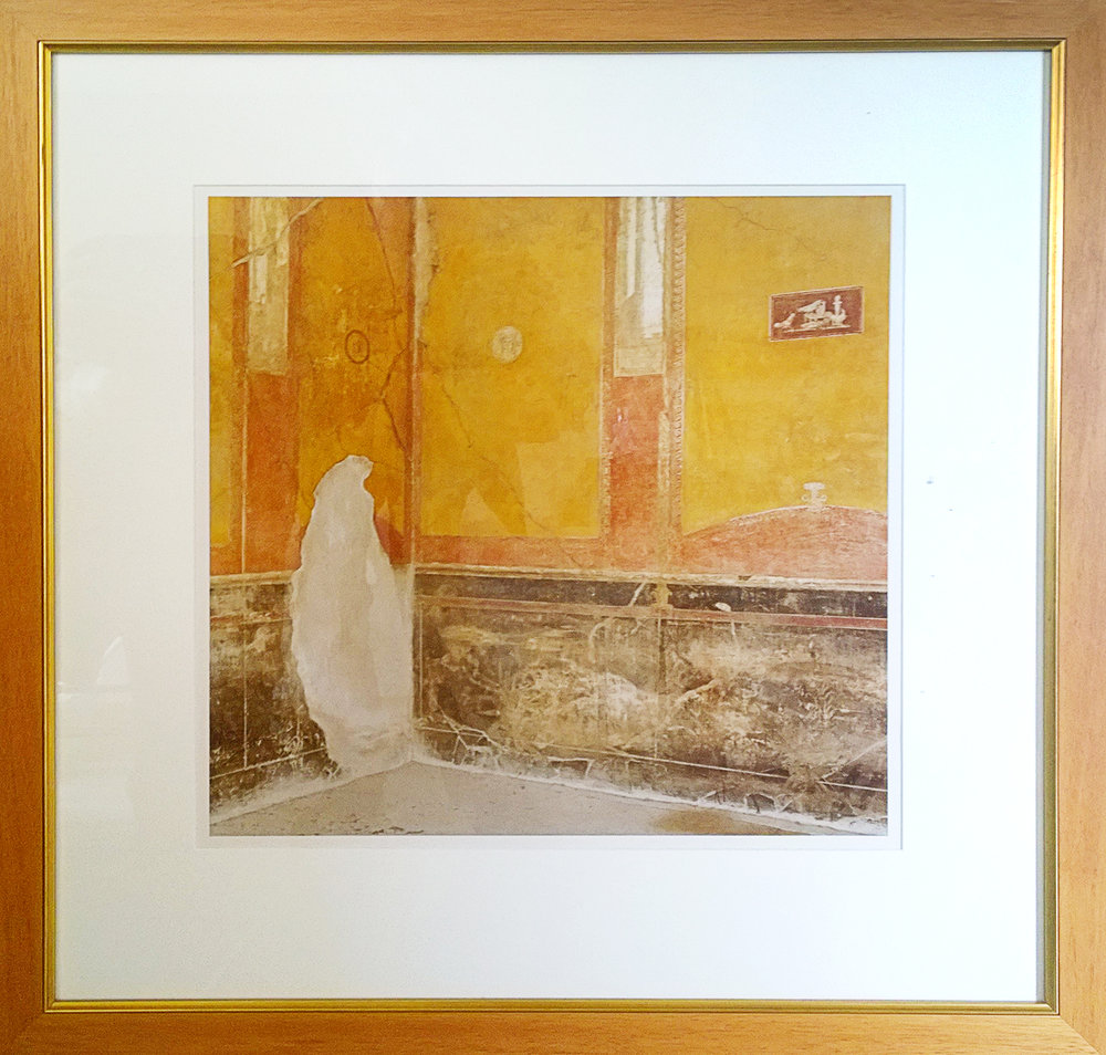 "Pompeii: Yellow Wall Study - Artist: Mary Pocock (1952-2004)Series: VesuvioDate: 1999Medium: PhotographySize: 31"" x 32""Value: $500Starting Bid: $120Mary Pocock was a Toronto-based artist, photographer and teacher whose works explored unexpected truths about the meaning of existence."