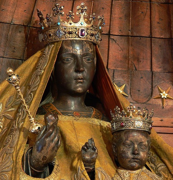 The Black Madonna of Chartres , before she was literally whitewashed in 2014.