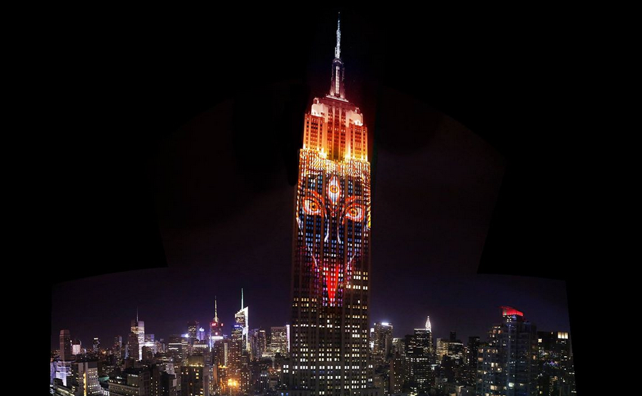 Kali appears on the Empire State Building, August 2015