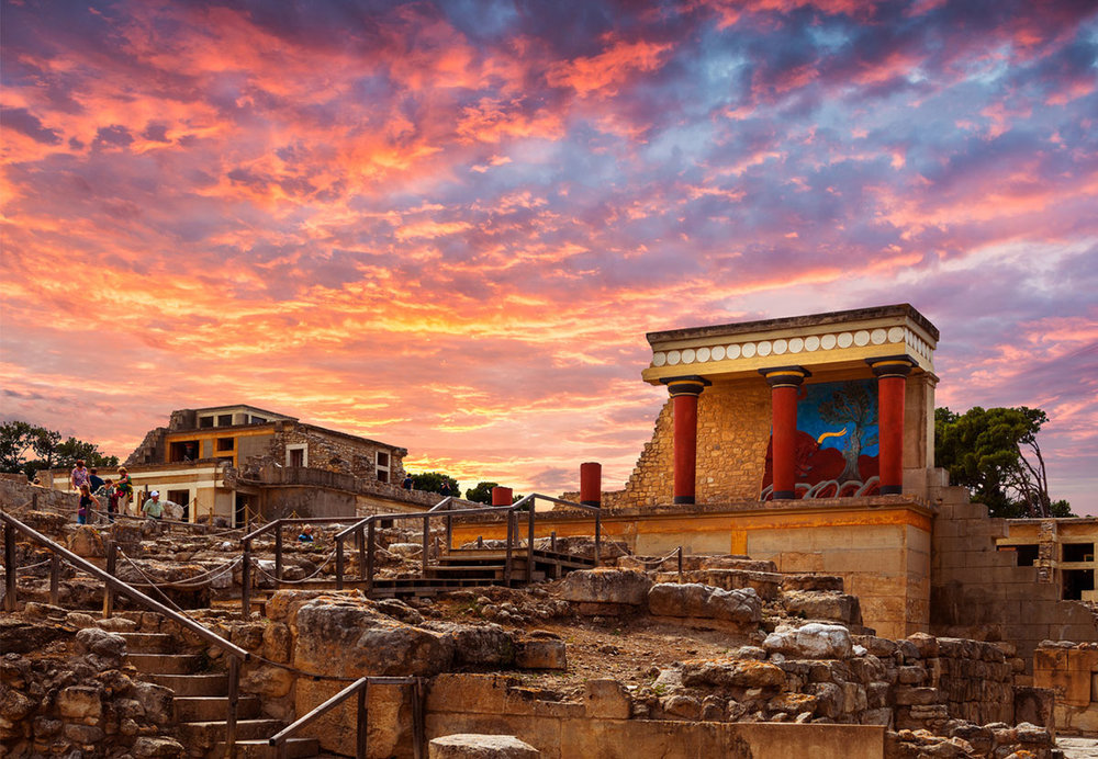 The Palace of Knossos, Crete - one of many planned stops during our European adventure