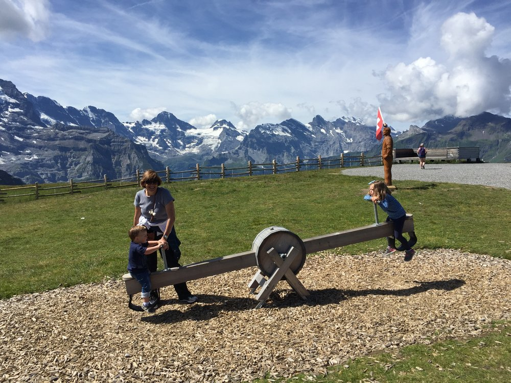 Just your average playground in the Alps