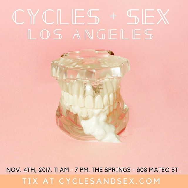 So excited to be joining @cyclesandsex next week as a panelist. Education + celebration!