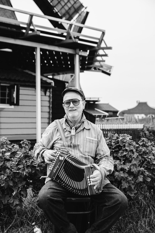 Dutch accordion musician Volendam Netherlands Toronto Food Travel Photographers - Suech and Beck