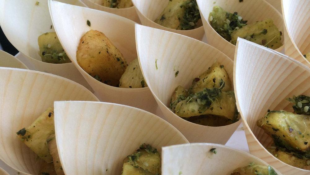 Green Chilli Mogo in a cone