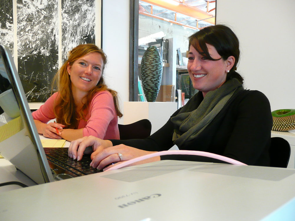 Martha Weidmann and Molly Casey, Owners of NINE dot ARTS.
