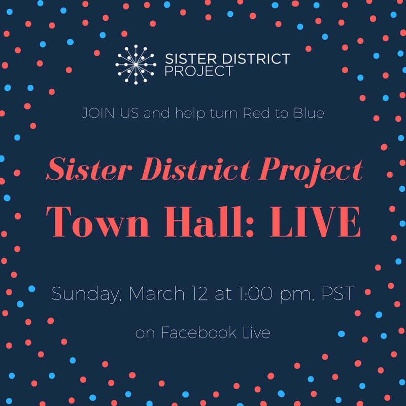 Join us this Sunday, March 12th at 1:00 p.m. on Facebook Live for a conversation with the Sister District Project HQ.