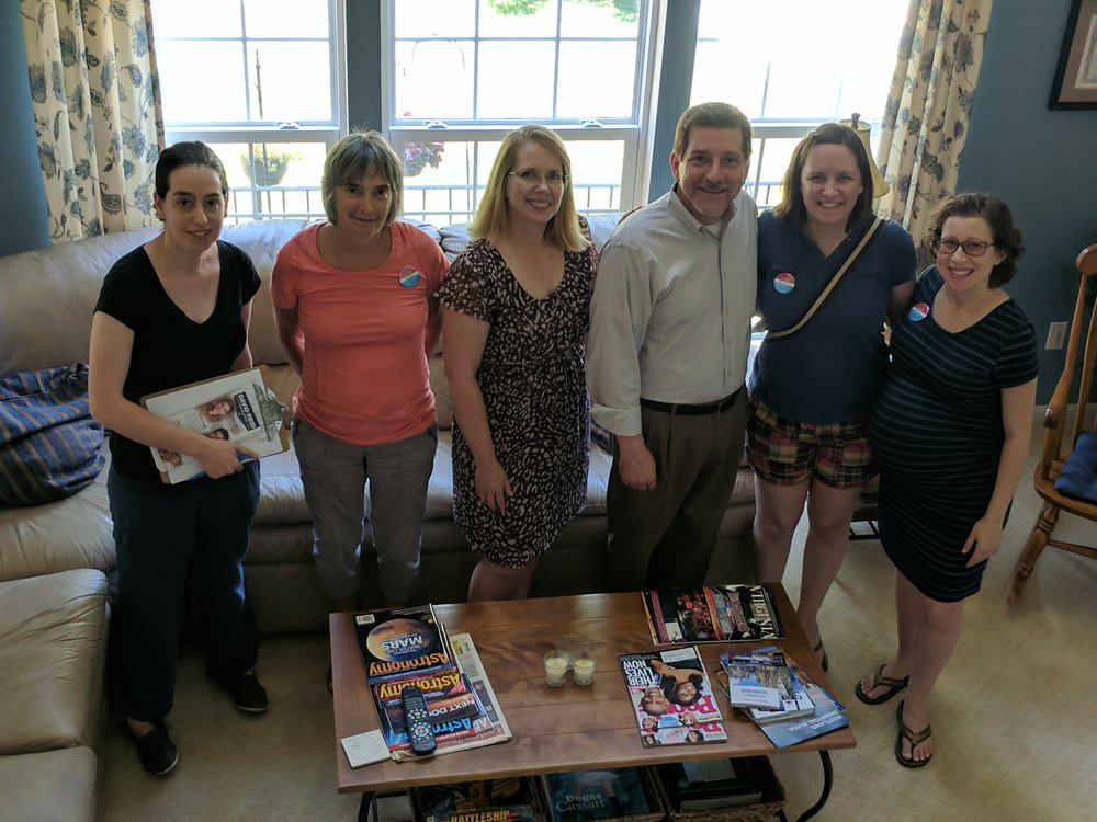Sister District Maryland volunteers after a day of canvassing with David.