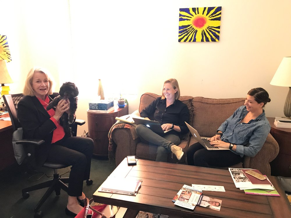 Kathleen and her campaign staff at the office.