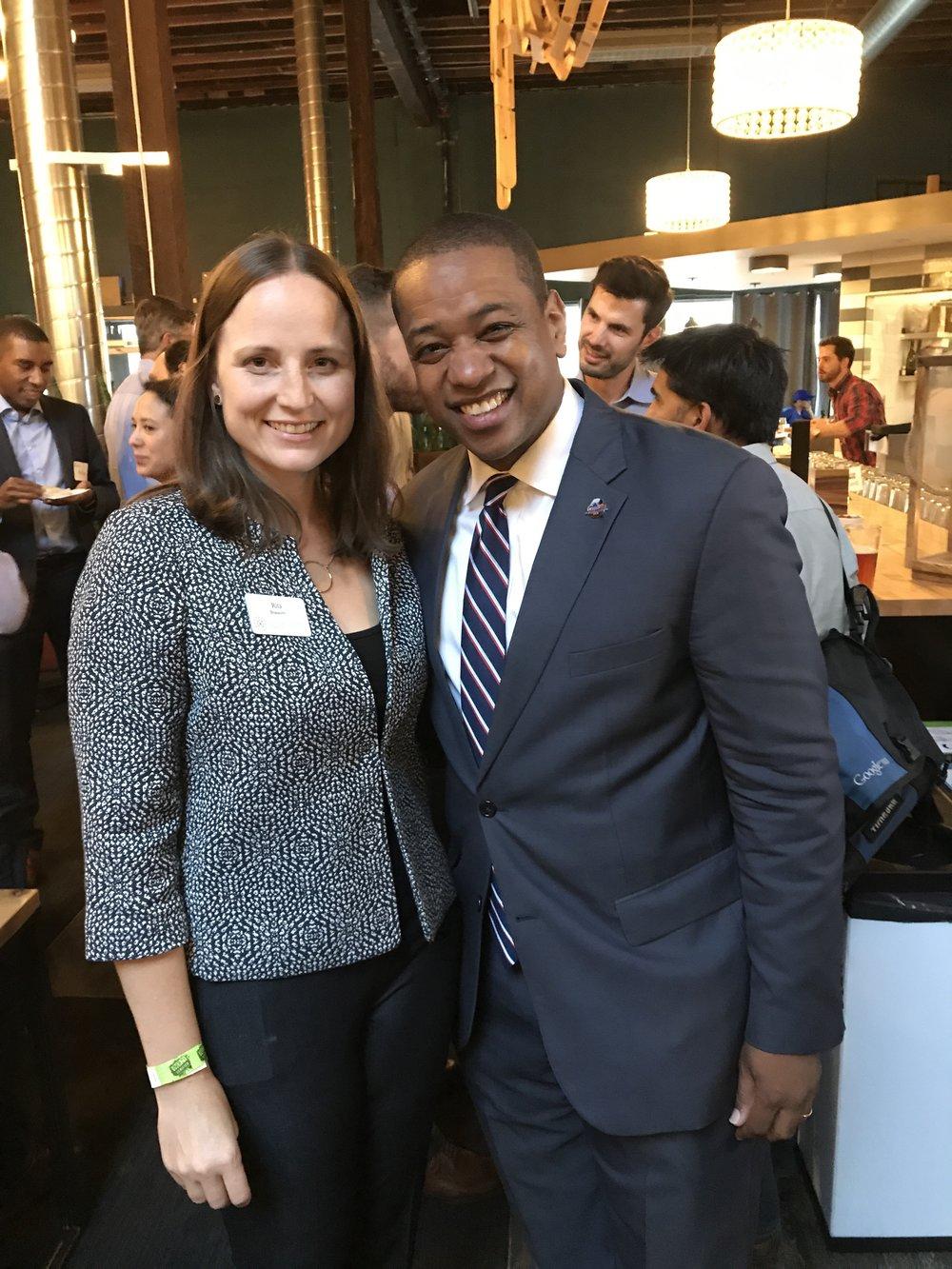 Founder Rita with Justin Fairfax
