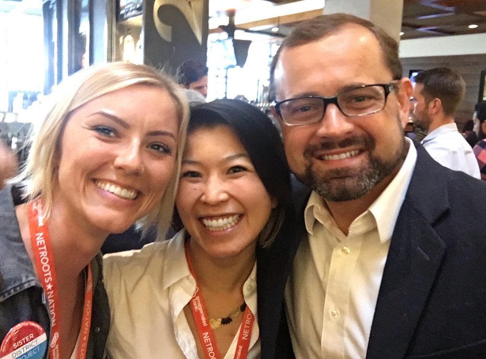Lala, Lyzz, and Tom Perriello