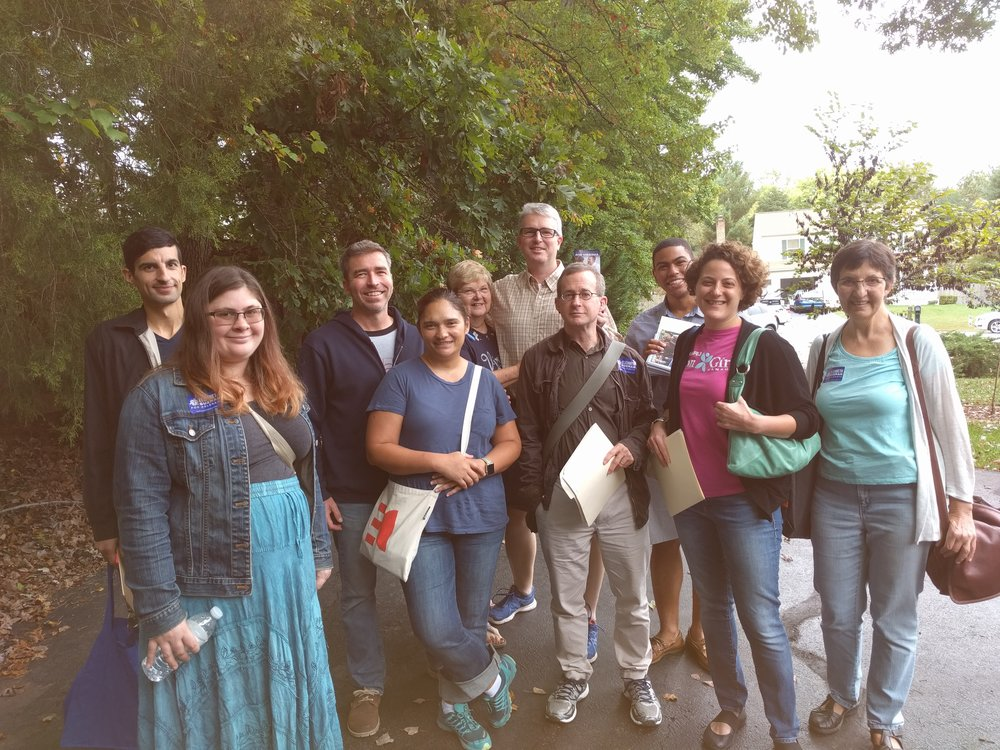 Volunteers from Washington, DC and San Francisco meet in Virginia to canvass.