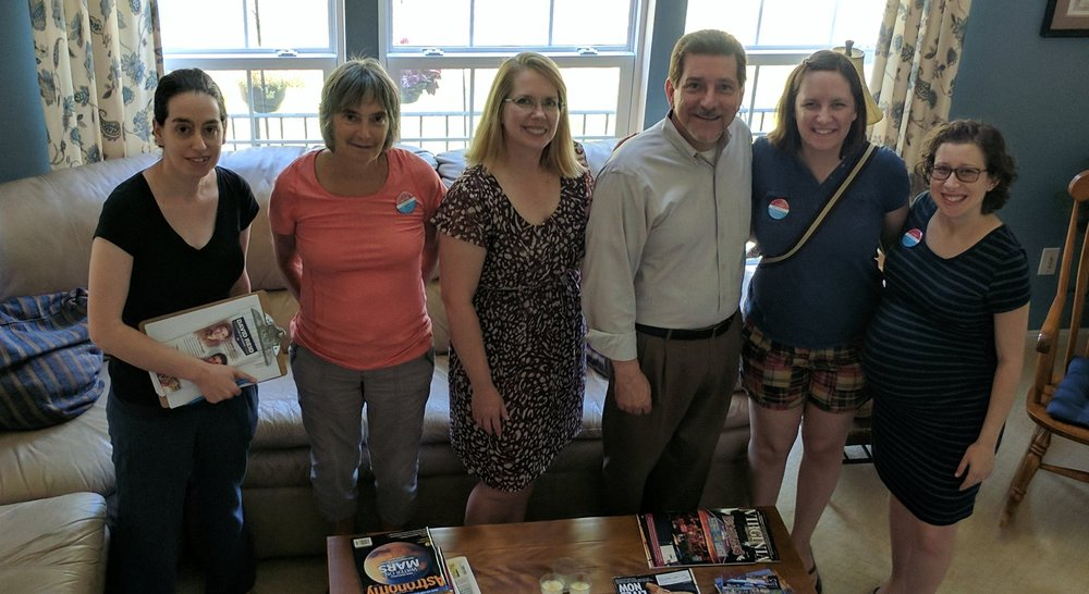 Maryland volunteers after canvassing with Delegate David Reid in Virginia.
