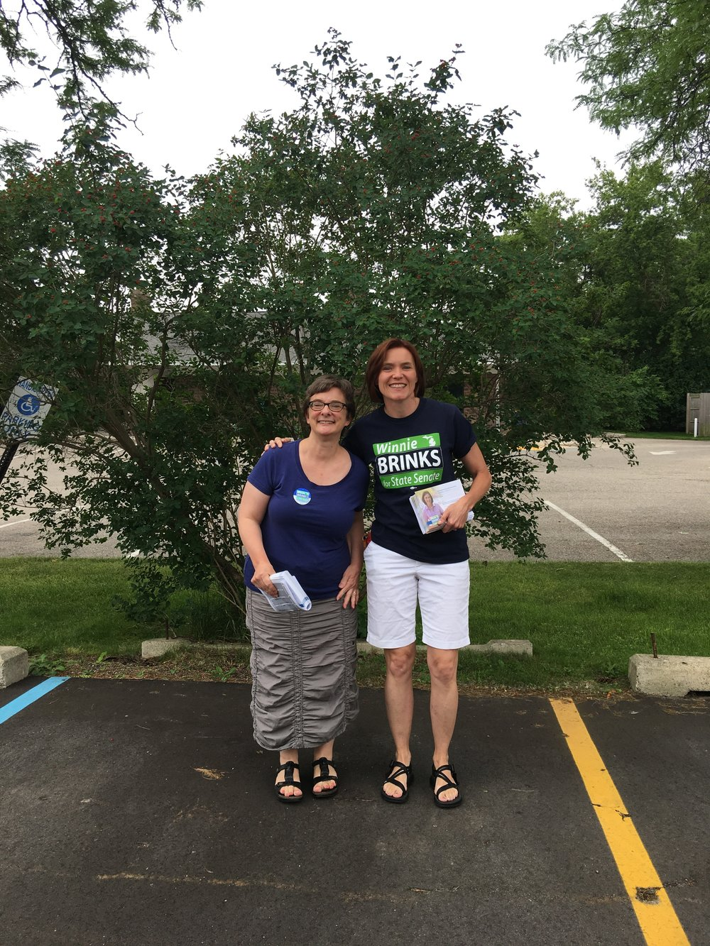 Canvassing with candidate Winnie Brinks