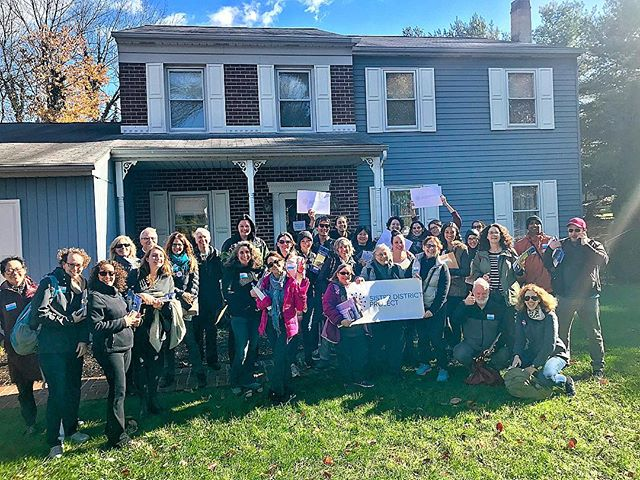 And we're off on our first canvass of the weekend! @lizforpa we support you! . . . #thelastweekend #voteblue #flippablue #midtermsmatter #statesmatter #redtoblue #sisterdistrict #provelovettwrong