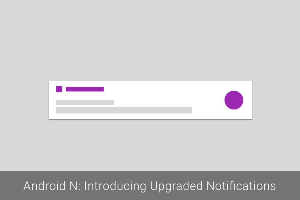 Android N: Introducing Upgraded Notifications