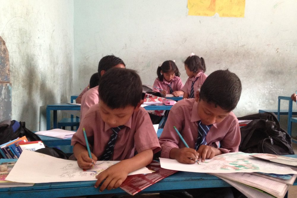 We help schools, families, and orphanages in Nepal. -