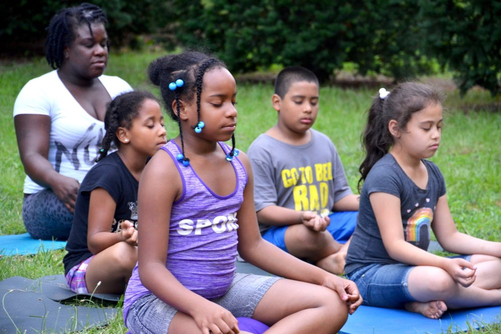 We bring meditation and yoga to homeless families in emergency shelters. -