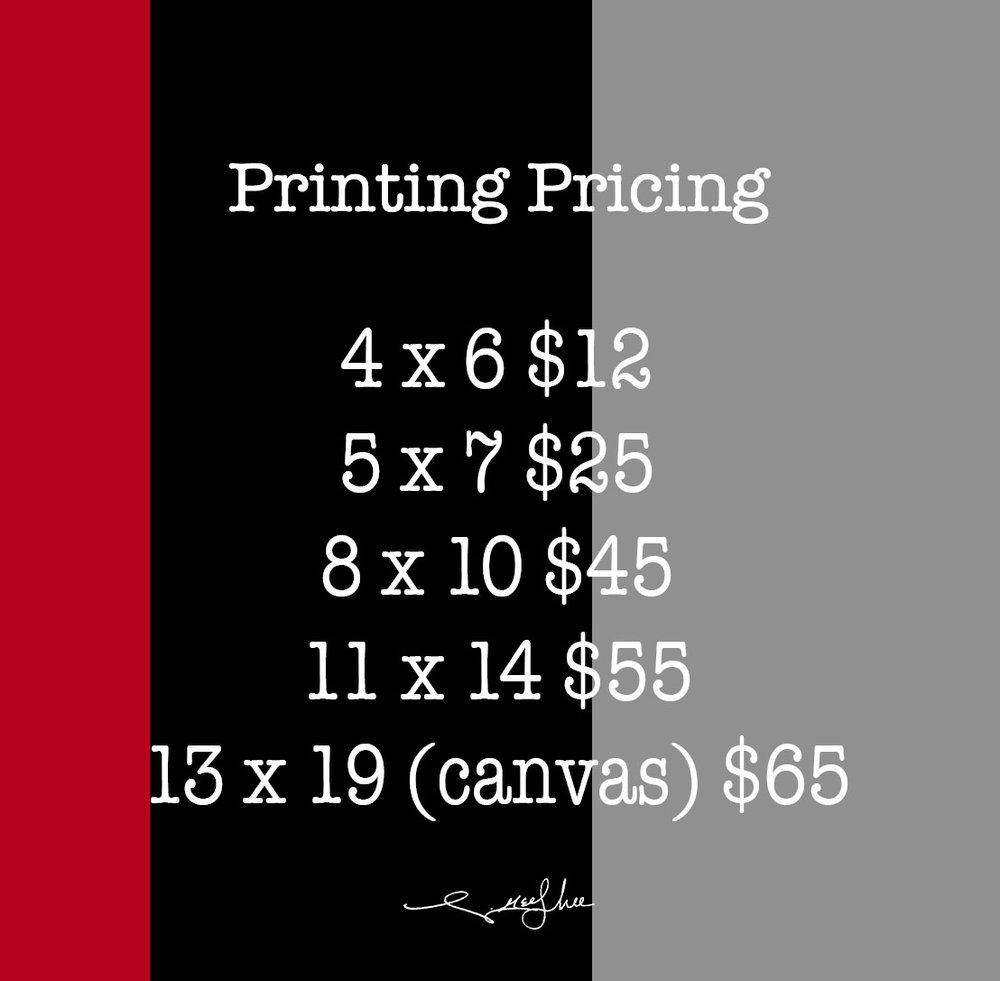 Optional For Packages That Do Not Include Printing Already. - Photos Printed On Epson Glossy Painting Paper