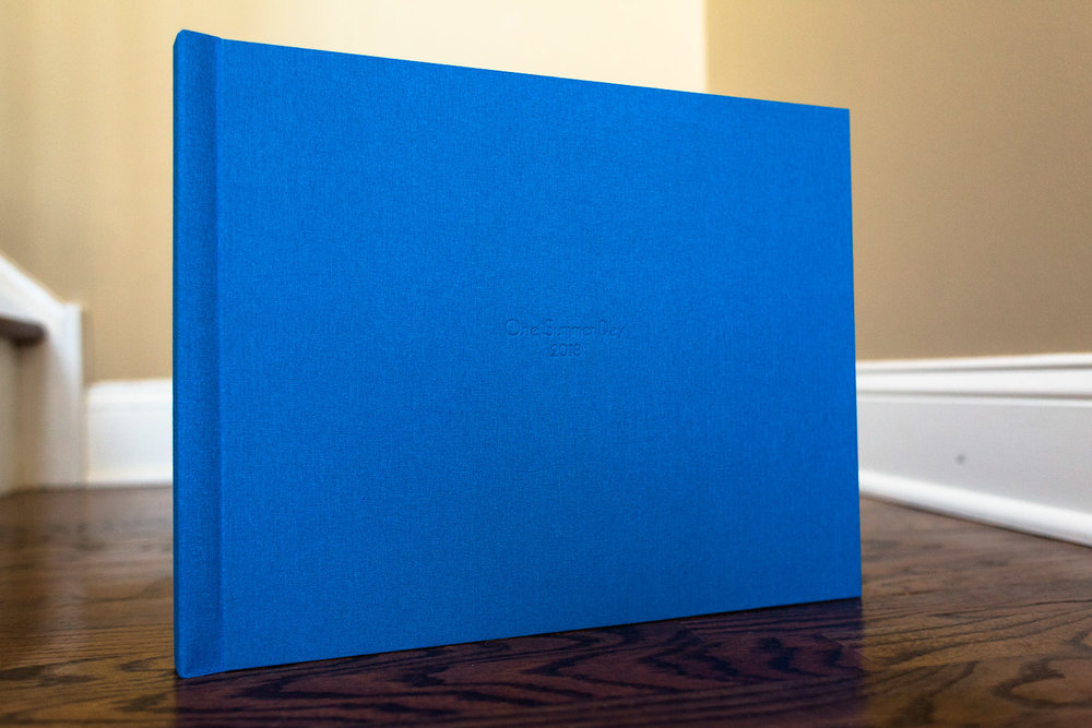 High end album with linen cover.