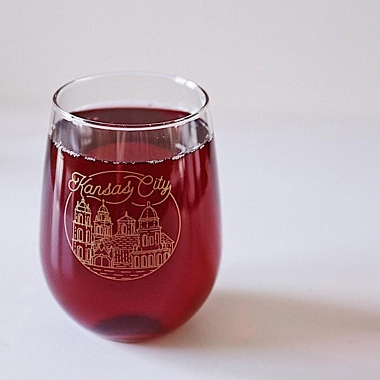 Kansas City Plaza Wine glass