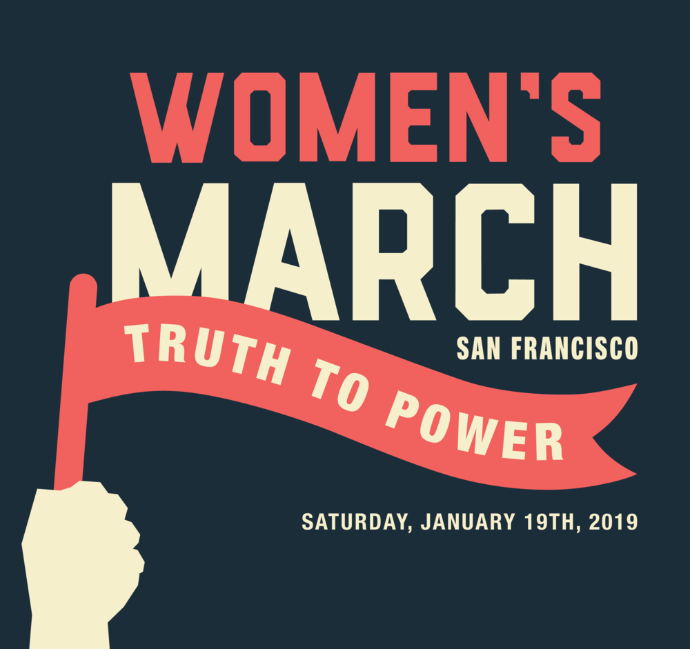"Womens's March January 19, 2019 ""Truth to Power"" square graphic"