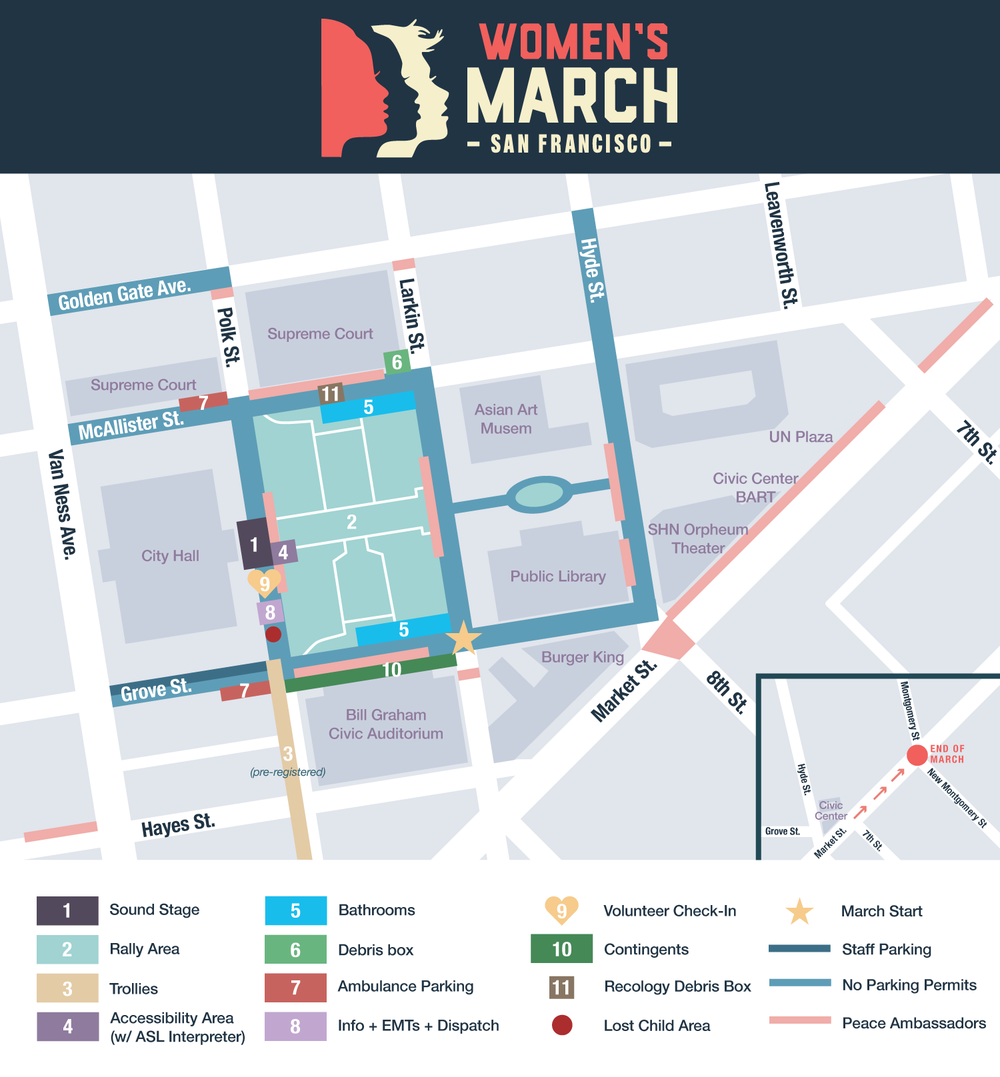 Women's March San Francisco 2019 Rally Map