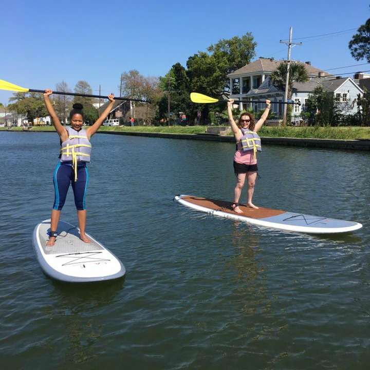 #4 SUP - Stand-Up-Paddleboarding is a great way to get outside and be active. Nola Paddleboards does classes on Bayou St. John and weekly group outings on the lake. I've also done that Paddleboard Yoga with them which I highly recommend.