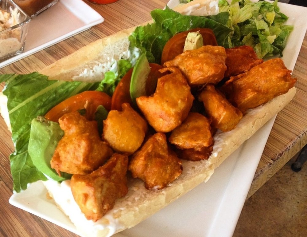 Seed - Seed has vegan alternatives of some of your favorite comfort foods, like po-boys, nachos, and beignets. It's a great spot to splurge without breaking your caloric bank. I get the nachos with seitan almost every time, but my 10-year-old can't get enough of the tofu nuggets.