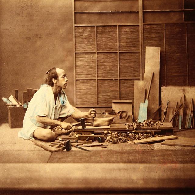 Traditional Japanese carpenter