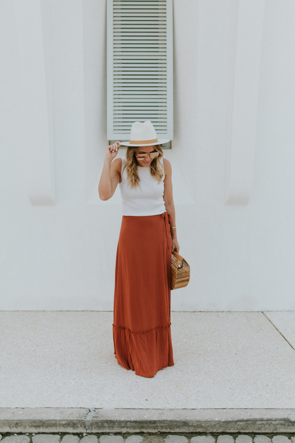 Blogger Gracefully Taylored in Revolve Skirt and Lack of Color Hat(22).jpg