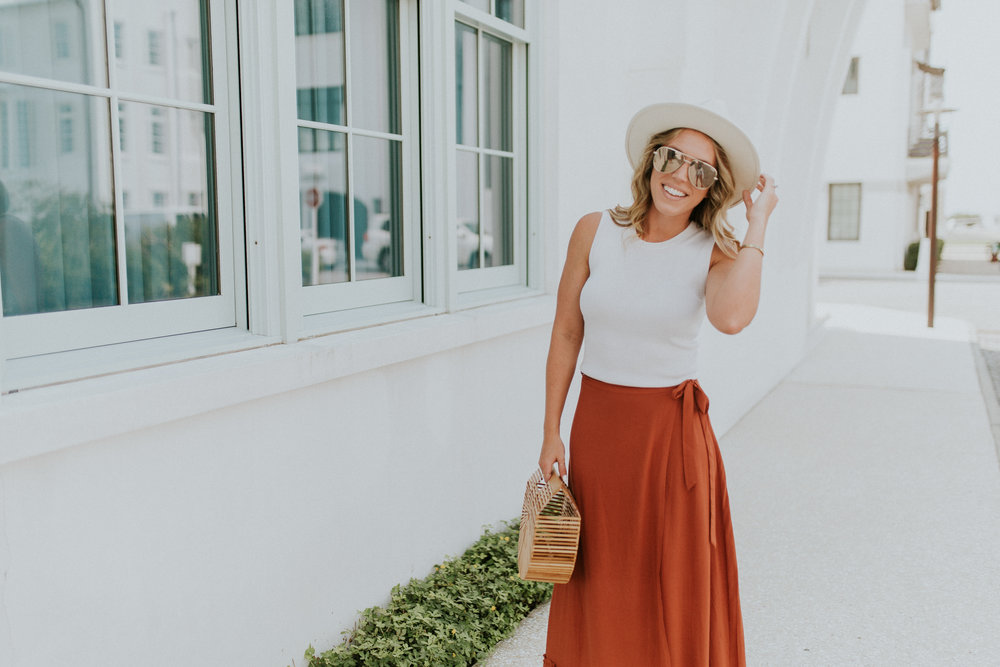 Blogger Gracefully Taylored in Revolve Skirt and Lack of Color Hat(13).jpg